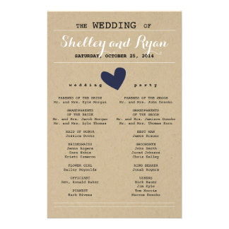 Him and Her Wedding Program Flyer