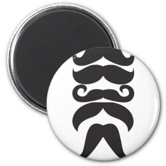 Him Moustache 6 Cm Round Magnet