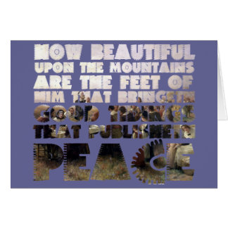 Him that Publishes Peace & 1st Thanksgiving Scene Greeting Card