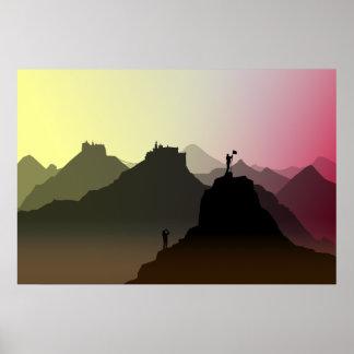 Himalaya tourists print poster