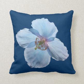 Himalayan Blue Poppy Flower Photography Cushion Throw Pillow