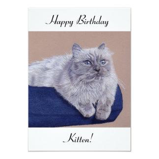 Himalayan Cat Birthday Card 13 Cm X 18 Cm Invitation Card