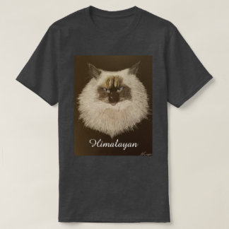 Himalayan Cat Design T-Shirt (Charcoal Grey)