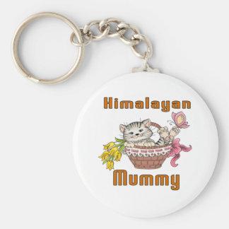 Himalayan Cat Mom Basic Round Button Key Ring