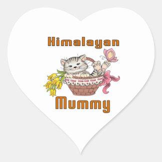 Himalayan Cat Mom Heart Sticker