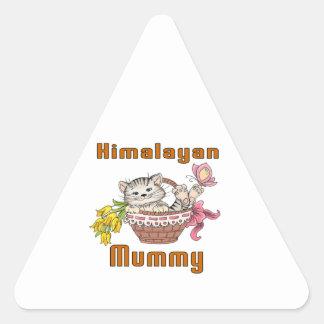 Himalayan Cat Mom Triangle Sticker