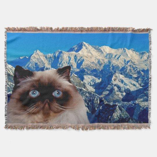 Himalayan Cat Throw Blanket