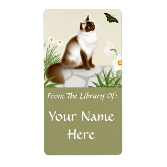 Himalayan in Butterfly Garden Bookplate Shipping Label