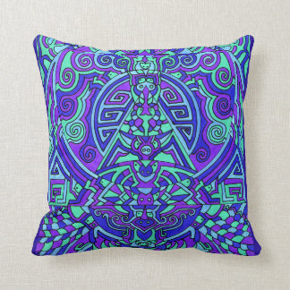 Himalayan Inspirations Purple Throw Pillow