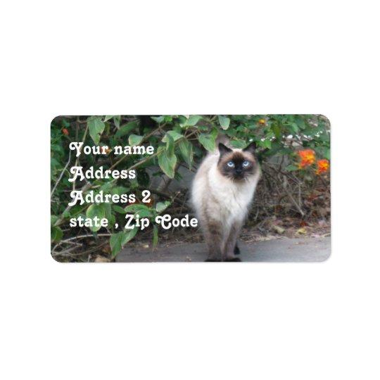 Himalayan Mix cat Label