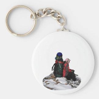 Himalayan Porter, Nepal Basic Round Button Key Ring