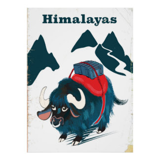 Himalayas Vintage travel poster
