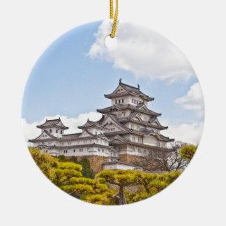 Himeji Castle (Himejijo) Round Ceramic Decoration