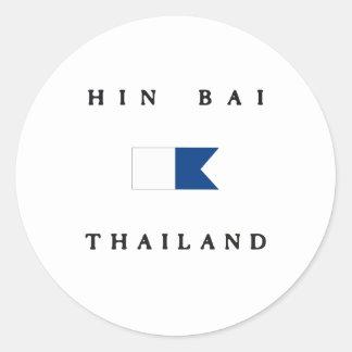 Hin Bai Thailand Alpha Dive Flag Stickers