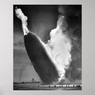 "Hindenburg Disaster poster 16""x20""."