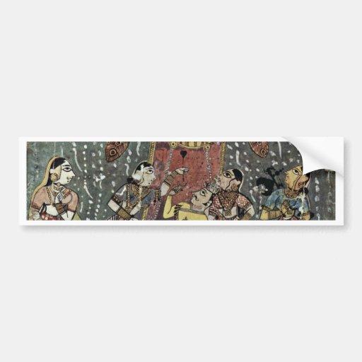Hindola Raga By Virji Bumper Sticker