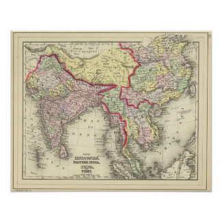 Hindoostan, Farther India, China, Tibet Poster