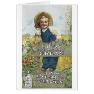 Hinds Honey and Almond Cream Greeting Card