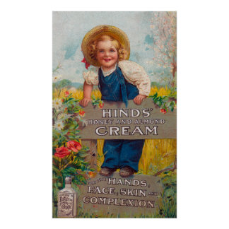 Hinds' Honey and Almond Cream Lotion Poster