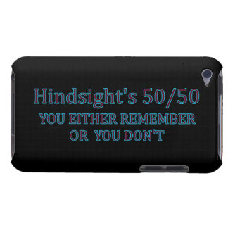 Hindsight's 50/50 You Either Remember Or You Don't iPod Case-Mate Case