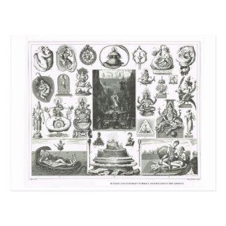 Hindu and Buddhist symbols Postcard