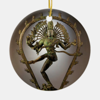 Hindu Deity Shiva Tamil the Destroyer Transformer Round Ceramic Decoration
