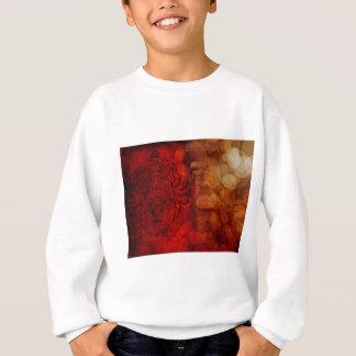 Hindu God Ganesh with Many Arms Red Grunge Sweatshirt
