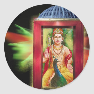 Hindu God Round Sticker