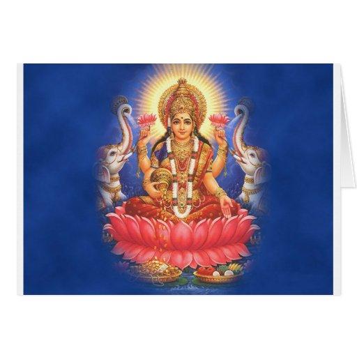 Hindu Goddess Laxmi Devi Mata Greeting Card