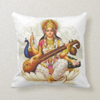 Hindu GoddessSarawati Sanskrit Prayer Cushion