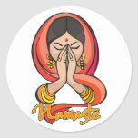 Hindu Namaste Round Stickers