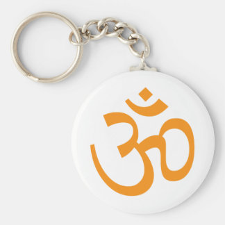 Hindu Om Basic Round Button Key Ring