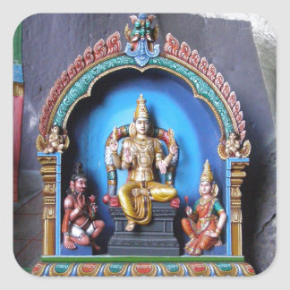 Hindu Shrine, Batu caves Square Sticker