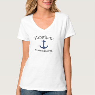 Hingham Massachusetts Sea Anchor Shirt for women