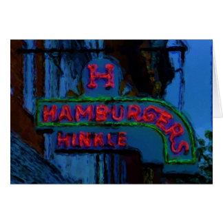 Hinkle's Hamburgers Sign Card
