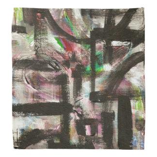Hint of Spring-Hand Painted Abstract Brushstrokes Bandana