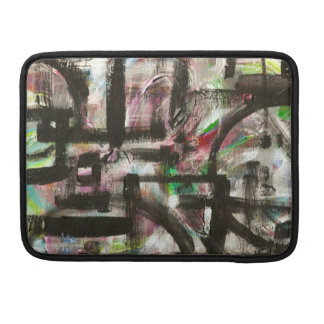 Hint of Spring-Hand Painted Abstract Brushstrokes Sleeve For MacBook Pro