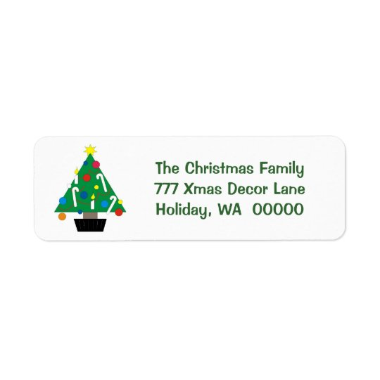 Hioliday Tree Custom Merry Christmas Card Sticker