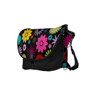 Hip and Colorful Floral Rickshaw Messenger Bag