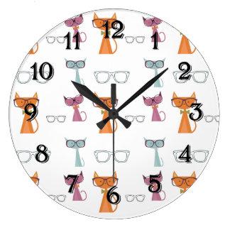 Hip Cats Large Clock