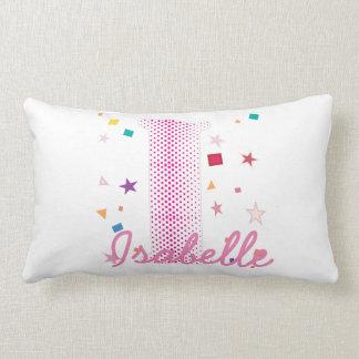 Hip Chic Baby Girl Custom Name Initials Letter I Lumbar Pillow