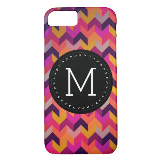 Hip Colorful Geometric Pattern Customized Monogram iPhone 7 Case