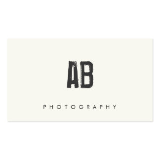 Hip Cool and Edgy, Simple Black and White Monogram Pack Of Standard Business Cards