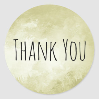 Hip, Cool Trendy Custom Thank You Stickers Gold
