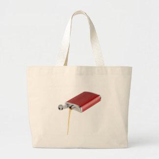 Hip flask large tote bag