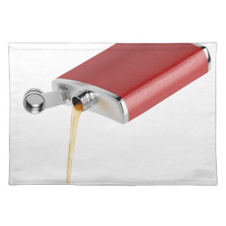 Hip flask placemat