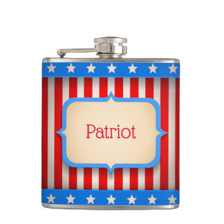 Hip flask with American flag for Veterans day