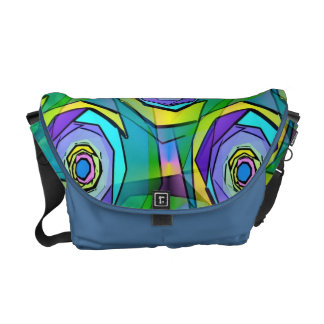 Hip Fun Fractal Funky Abstract Art Courier Bags