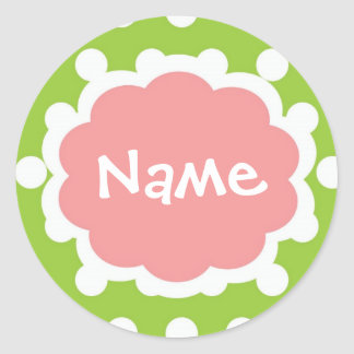 Hip Girl Customizalbe Name Sticker