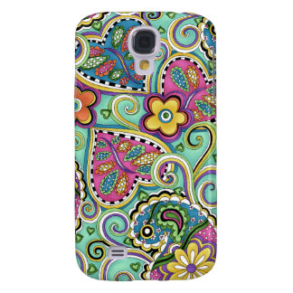 Hip Happy Flower Teal iPhone 3 cover